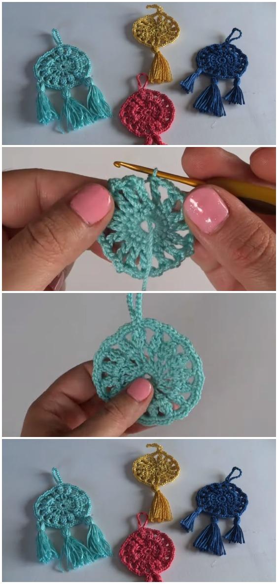 Crochet Super Easy Dreamcatcher Keychain