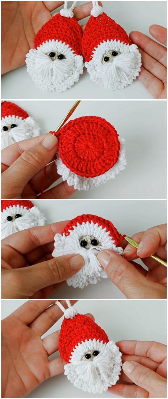 Crochet Easy Santa Applique
