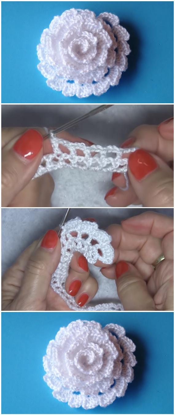 Easy Crochet Beautiful Flower
