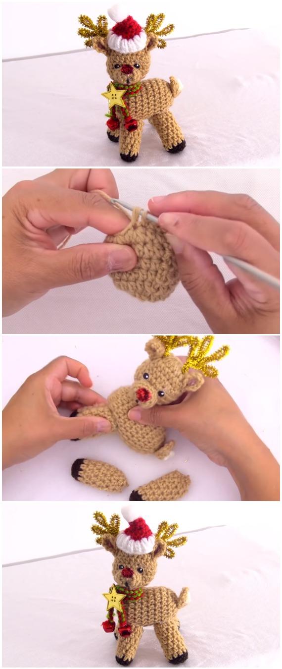 Crochet Reindeer Rudolph For Christmas