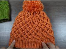 Beanie Hat Diamond Stitch (1)