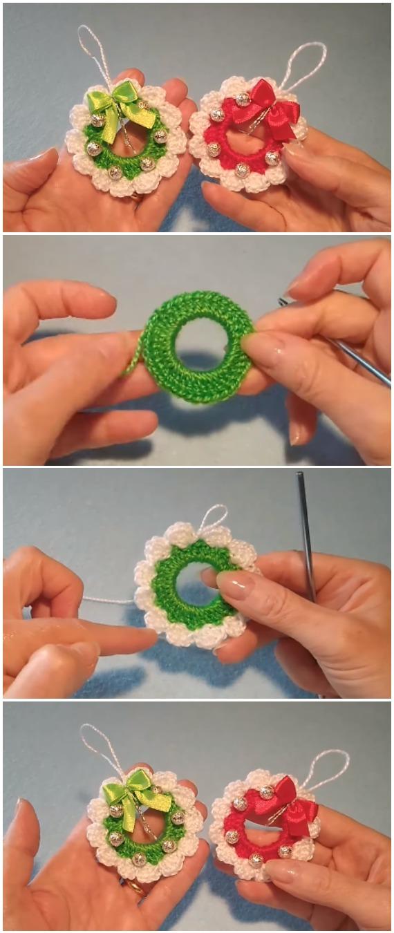Learn To Crochet Christmas Wreath Amigurumi