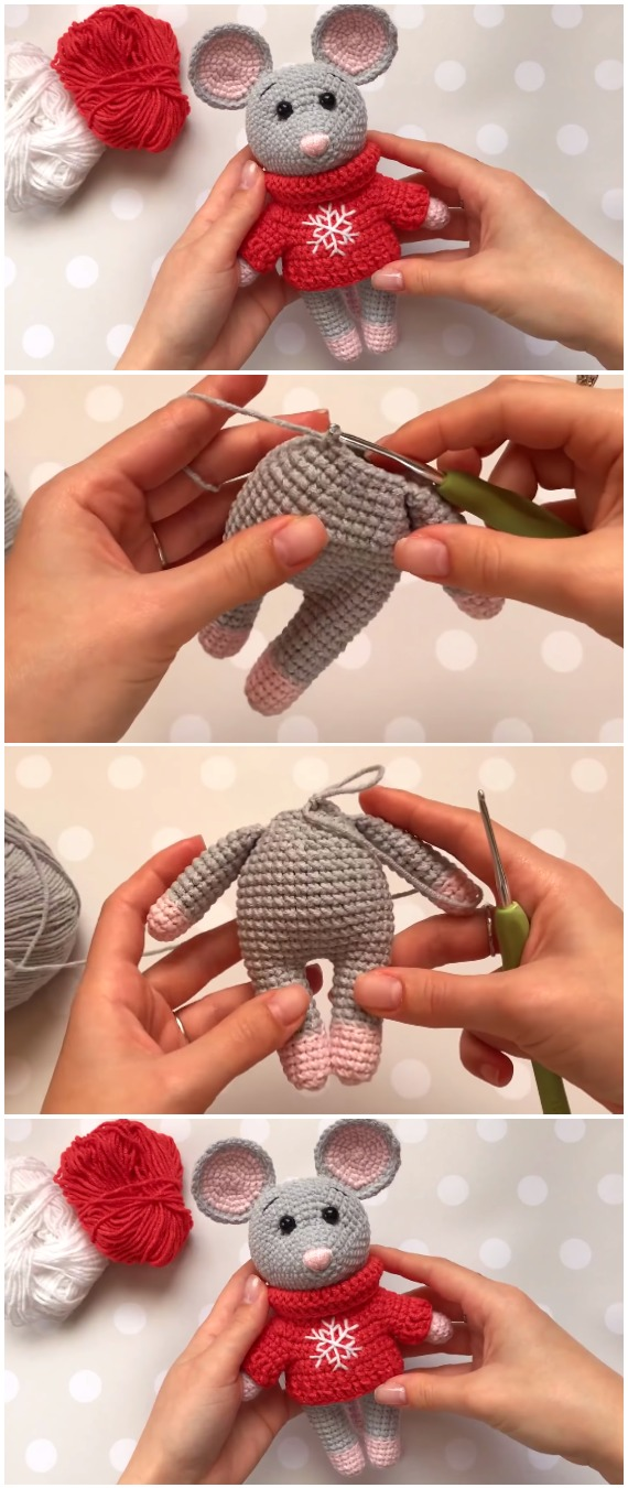 Learn To Crochet Mouse - Free Pattern [Video]