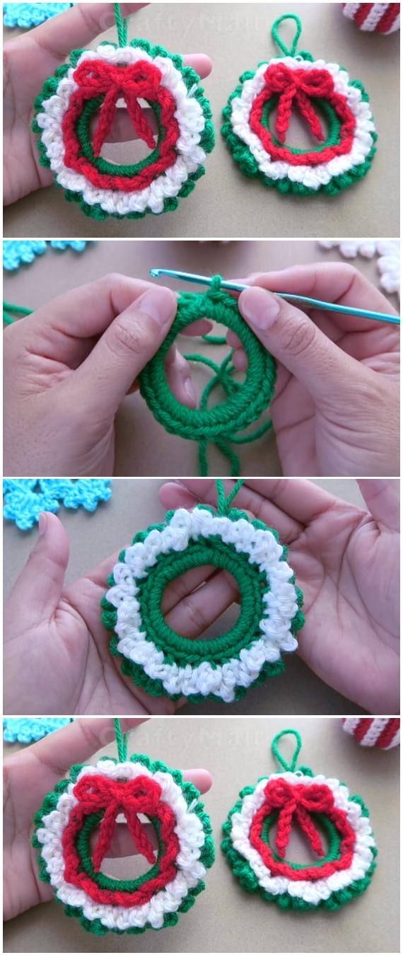 Learn To Crochet Xmas Wreath