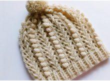 Beanie Hat Popcorn Stitch