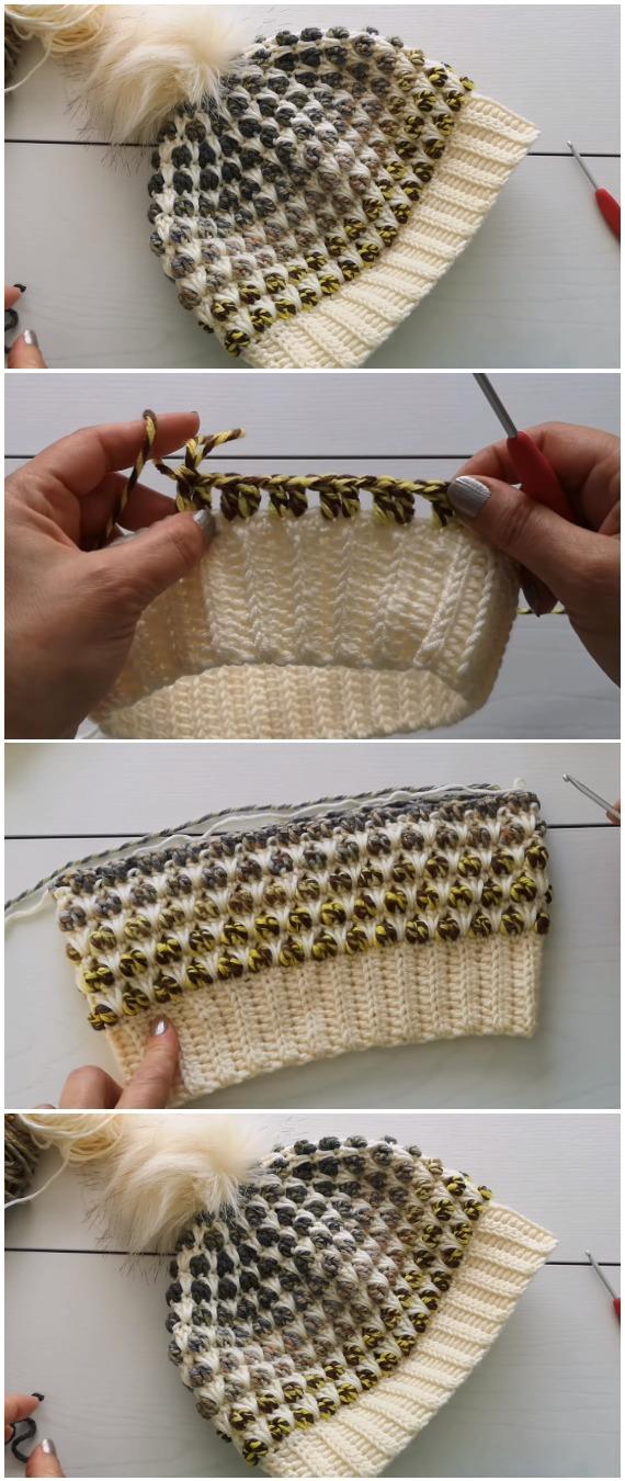 Crochet Beanie Hat - Free Pattern [Video]
