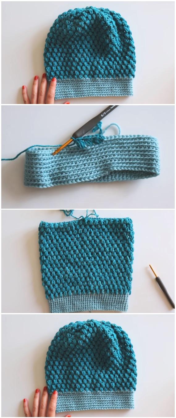 Crochet Easy Beanie Hat Pattern