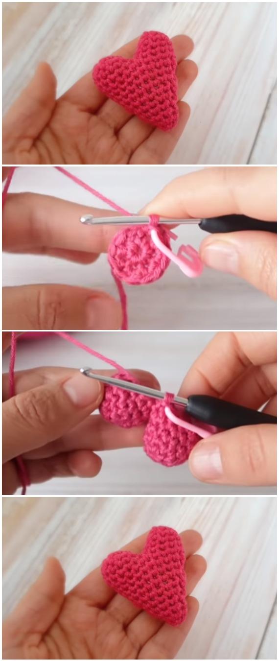 Crochet Easy Heart Amigurumi