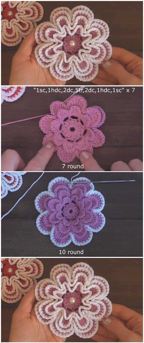 Easy To Crochet Gorgeous Flower