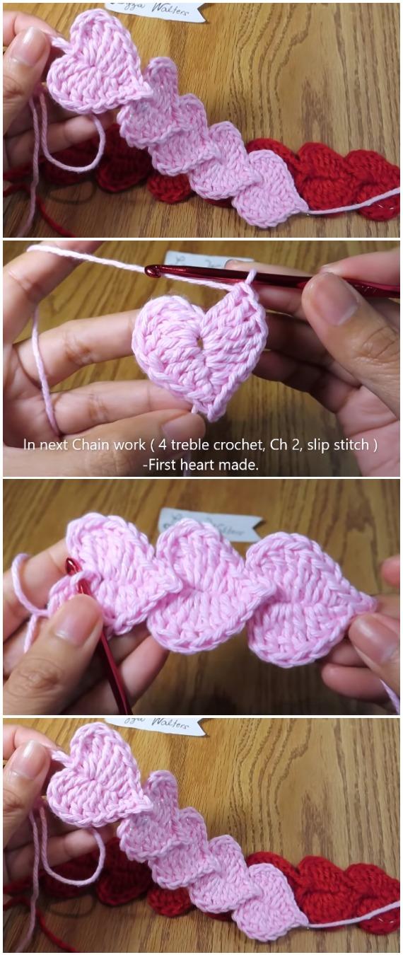 Learn To Crochet Easy Hearts Cord