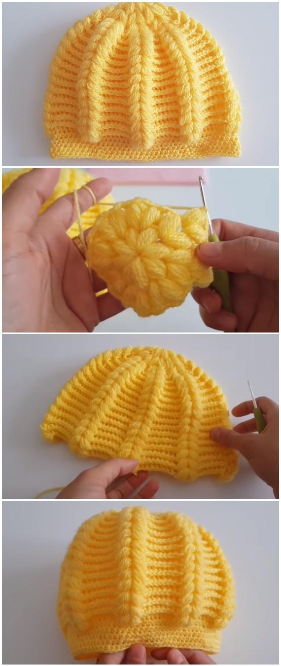 Crochet Easy Pistachio Beanie Hat