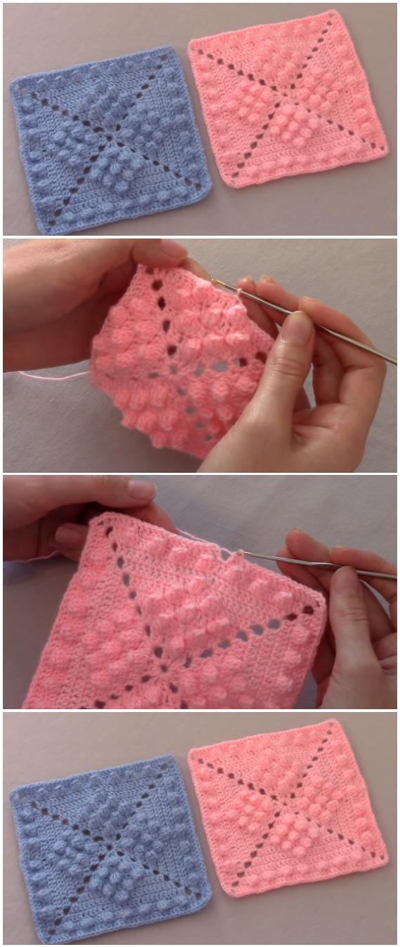 Crochet Motif Popcorn Stitch