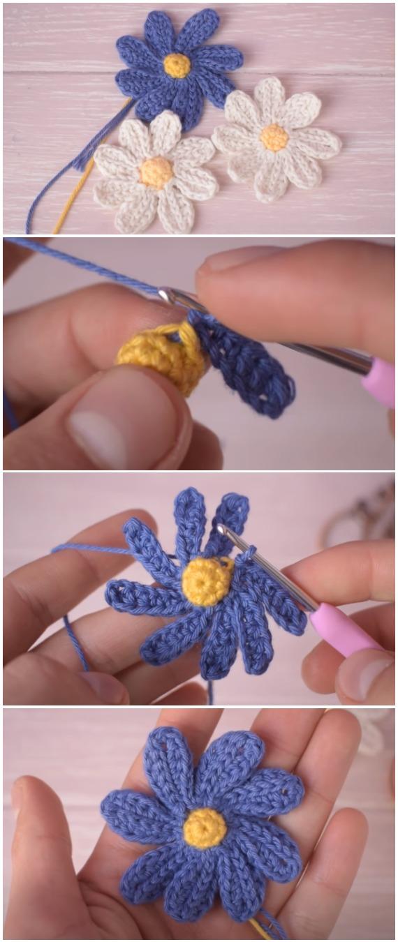 Crochet Beautiful Daisy Flowers