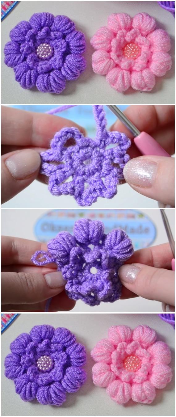 Crochet Beautiful Flower Free Pattern[Video]