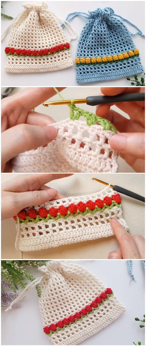 Crochet Easy Tulip Net Pouch