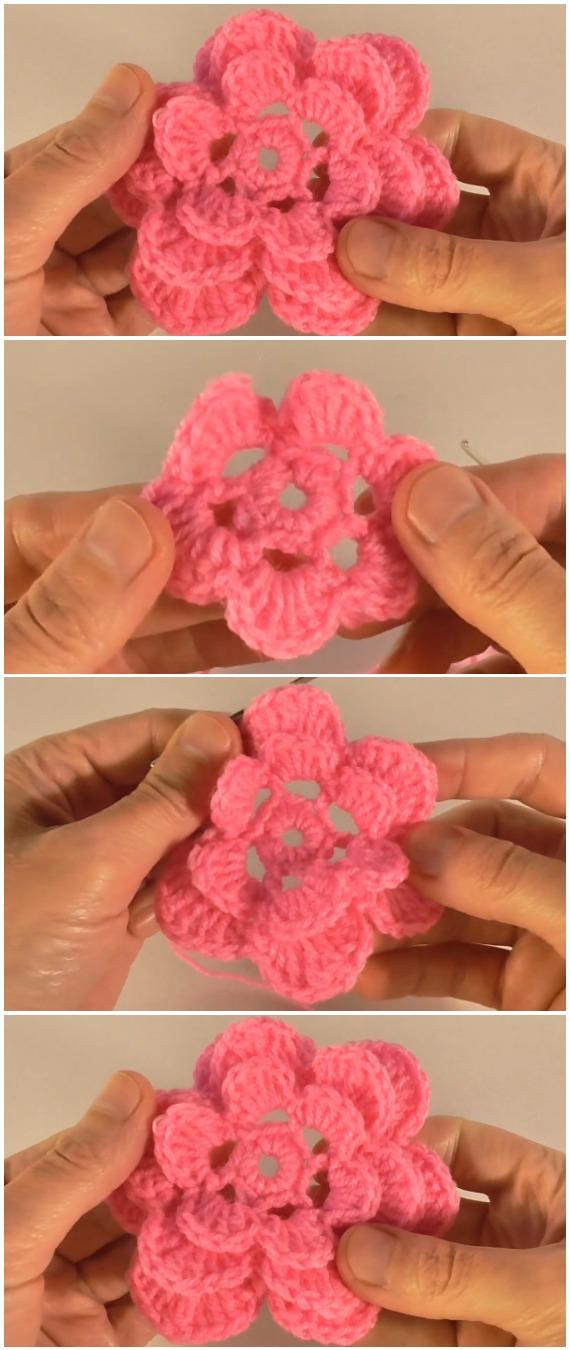Crochet Easy Amazing Flowers