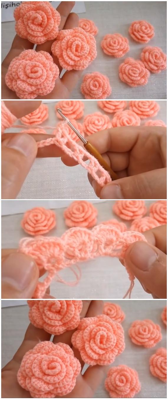 Crochet Easy Gorgeous Roses