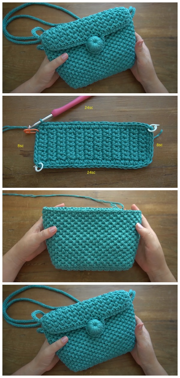 Crochet Easy Handbag Spike Stitch