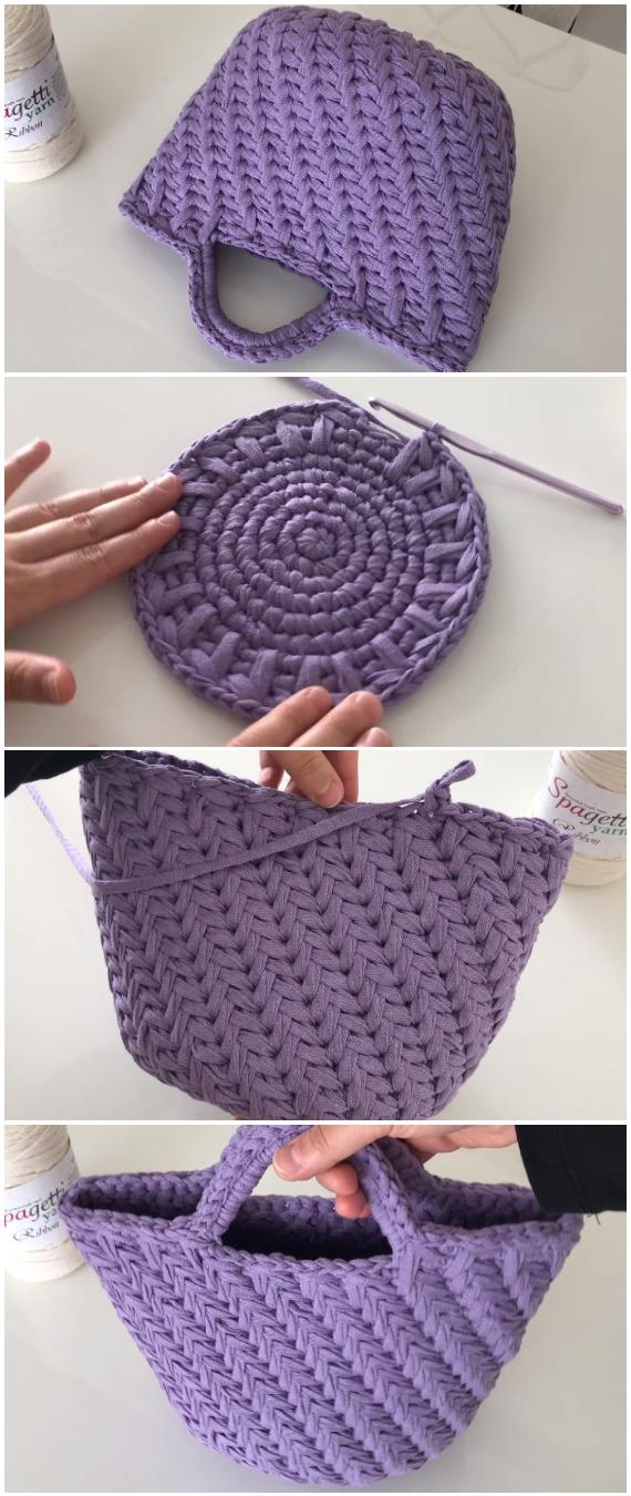Crochet Ribbon Bag For Summer