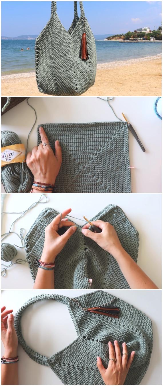 Crochet Summer Bag Granny Square