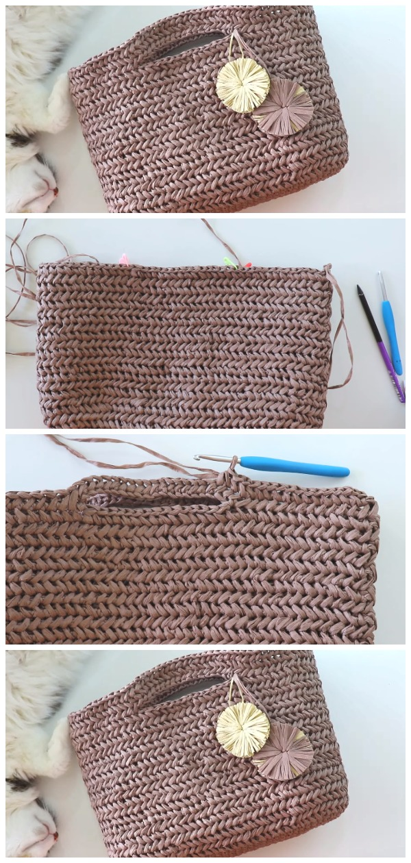 Crochet Summer Bag Herringbone Stitch