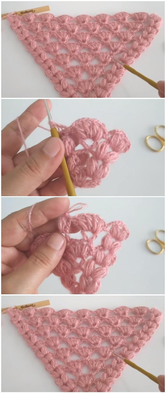 Crochet Triangle Shawl Tutorial
