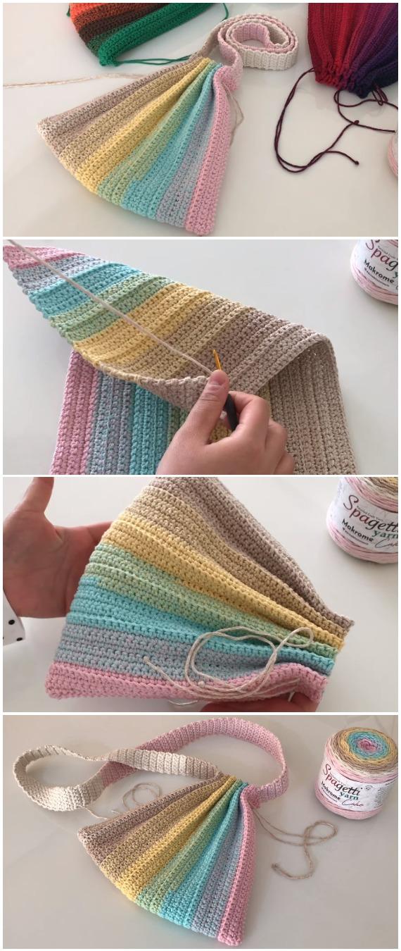 Crochet Colorful Summer Bag
