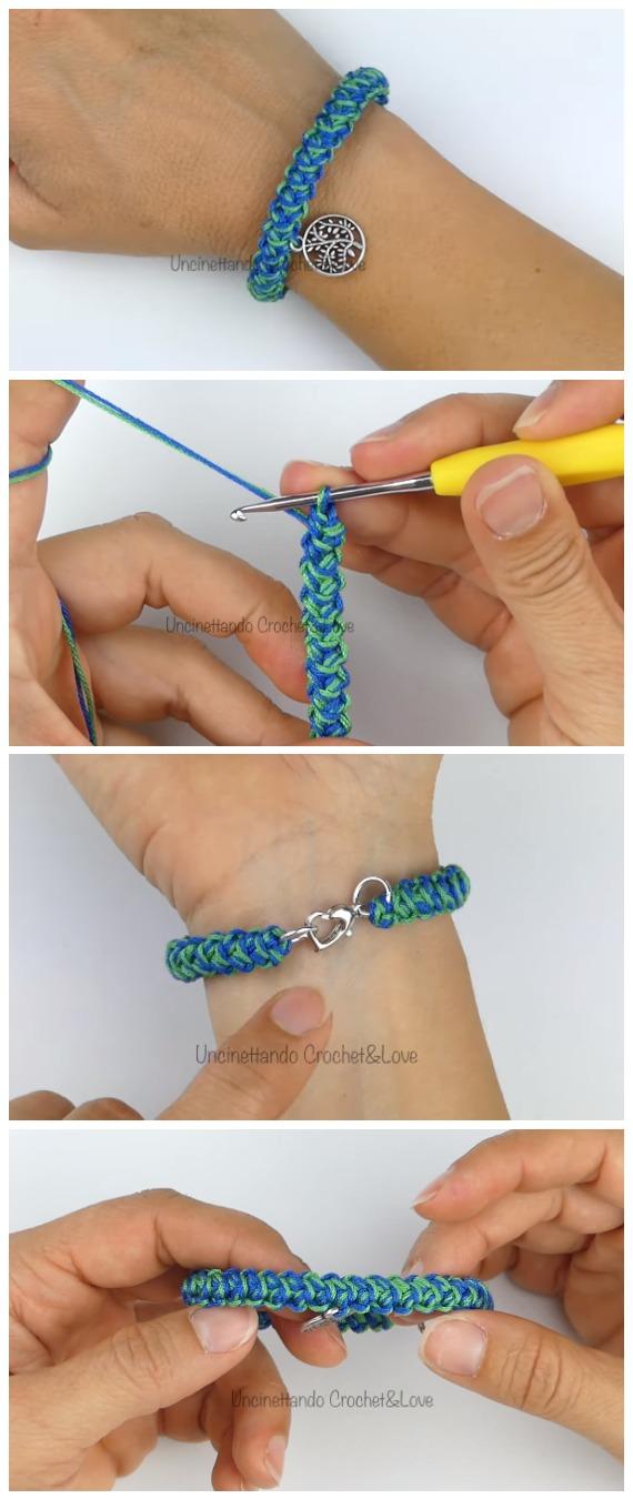 Crochet Easy Cord Bracelet