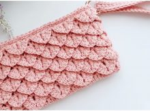 Pouch Bag Crocodile Stitch