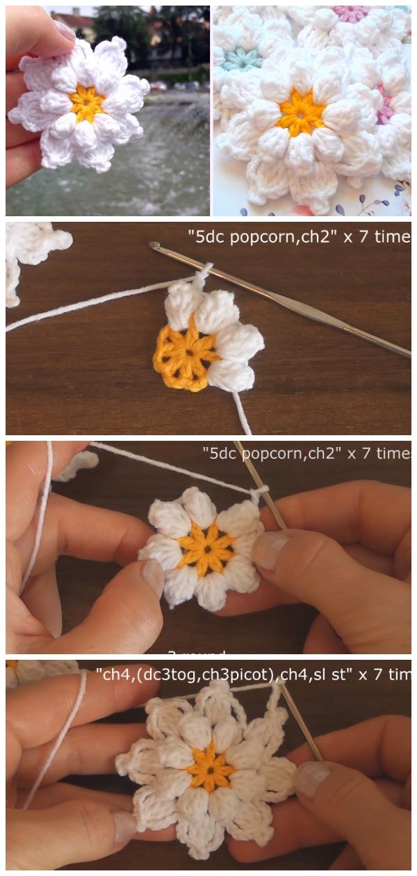 Crochet Very Beautiful Flowers