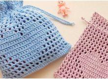 Heart Net Pouch Bag