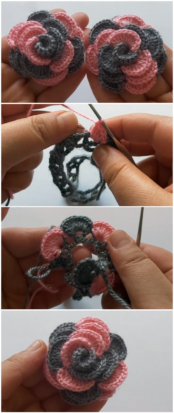Crochet Beautiful Roses In 5 Min