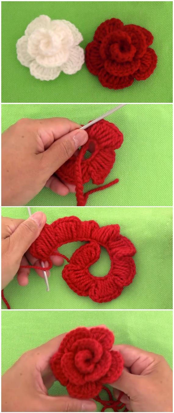 Crochet Easy Amazing Roses