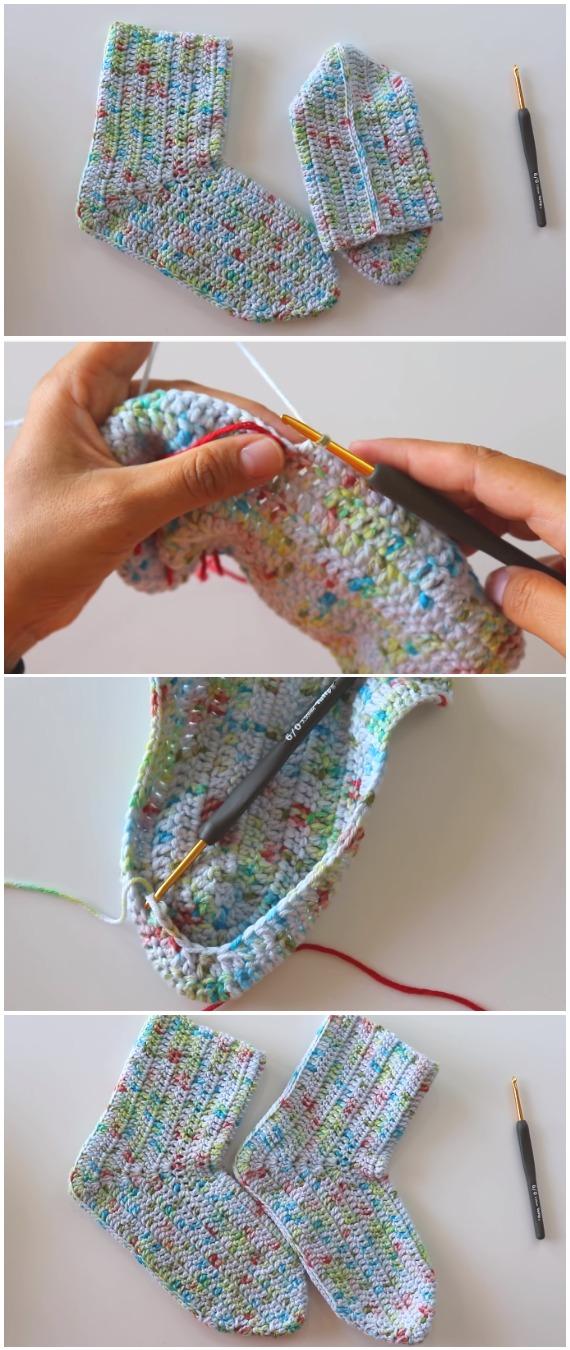 Crochet Slipper Socks Beginner's Guide