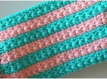 Two Color Star Stitch Blanket
