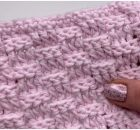 Basket Weave Stitch Blanket