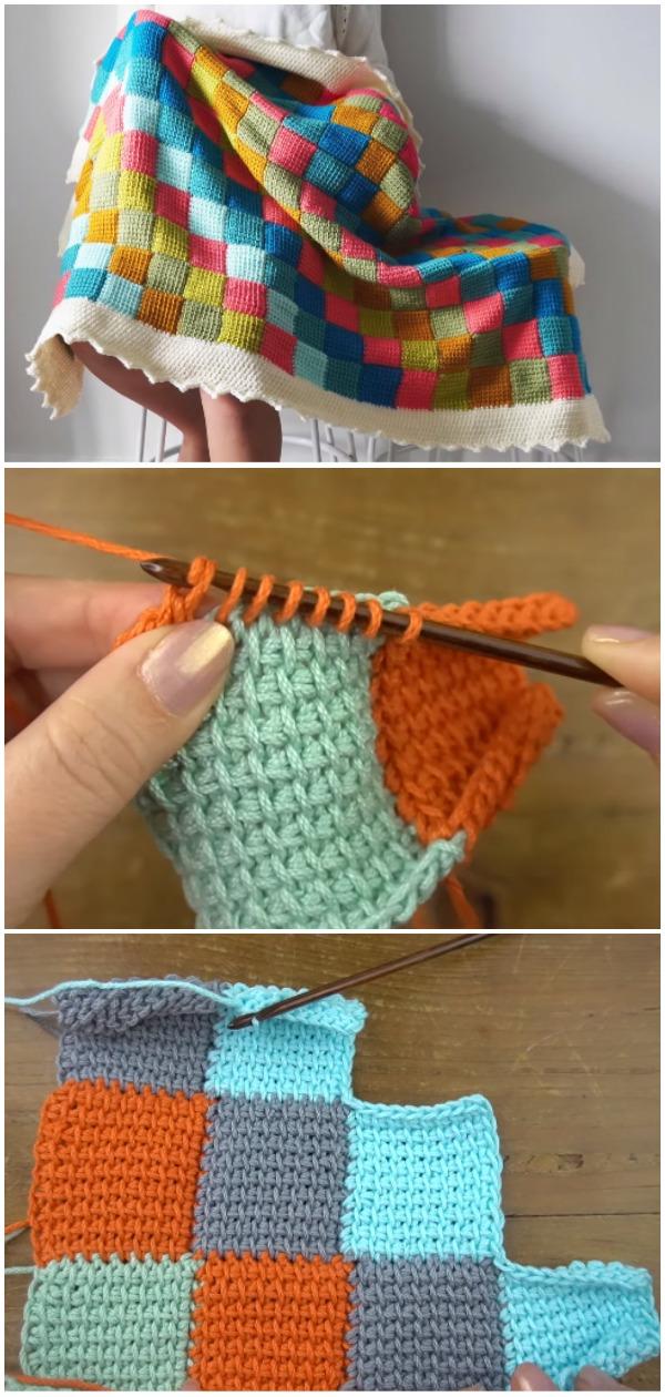 Crochet Tunisian Blanket - Free Pattern