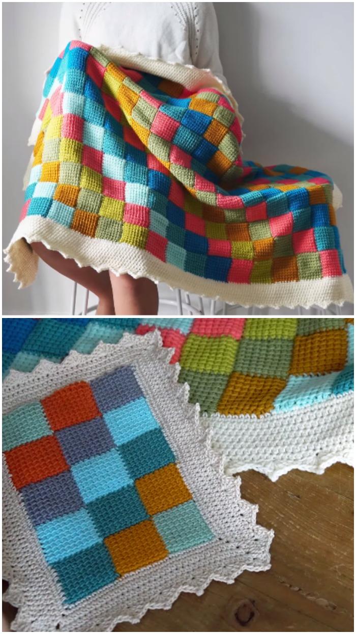 Crochet Tunisian Blanket