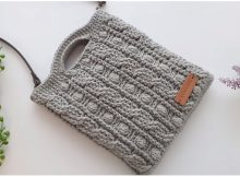 Easy Cable Stitch Bag