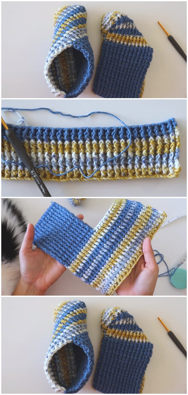 Easy To Crochet And Fold Slippers