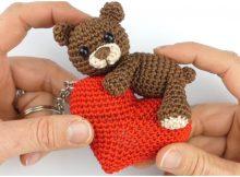 Easy Amigurumi Bear Keychain