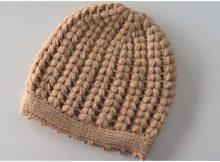 Puff Stitch Beanie Hat