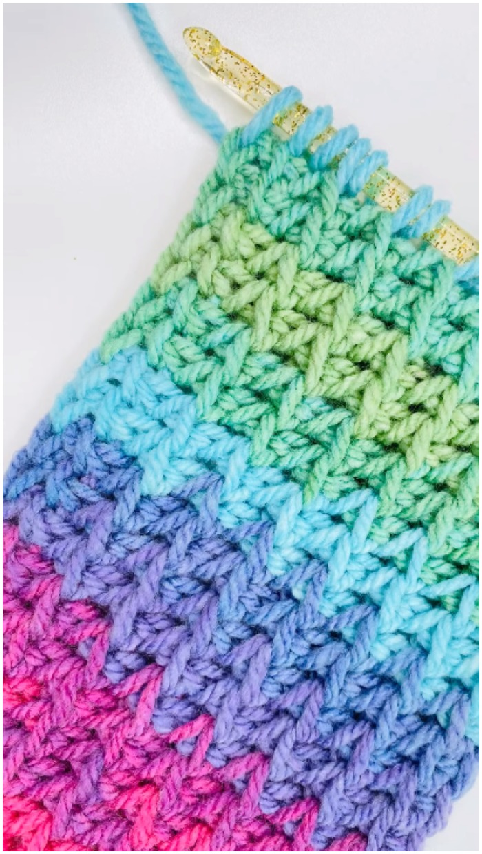 Crochet Tunisian Arrow Stitch