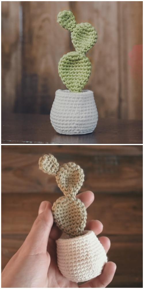Easy Potted Cactus Amigurumi