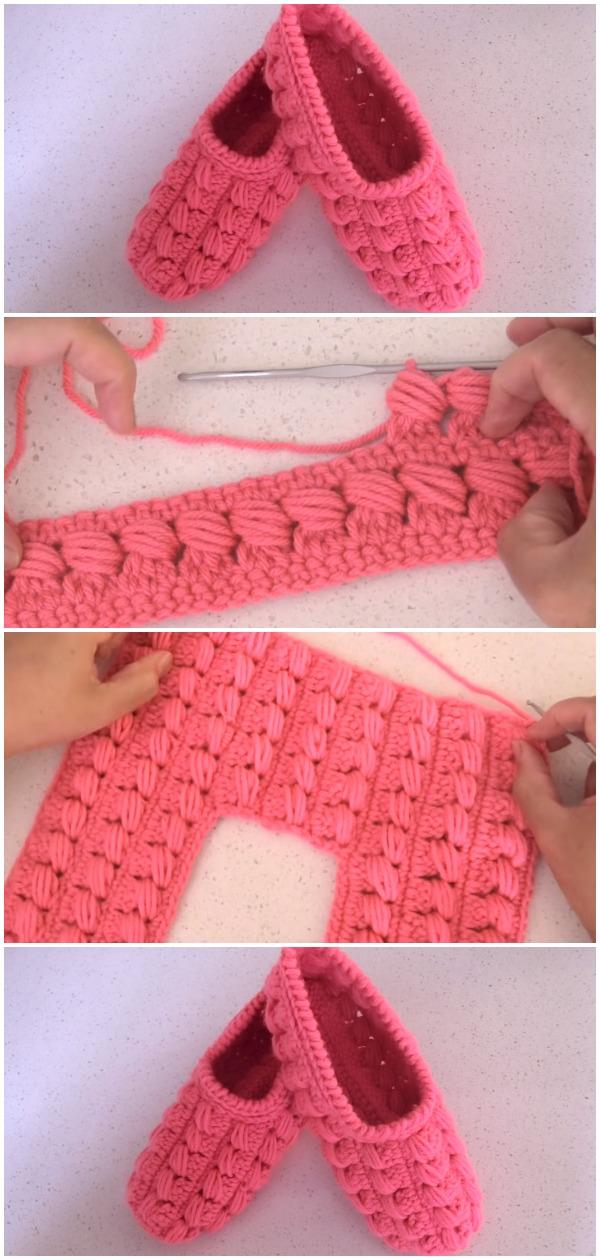 Crochet Easy Adult Slippers