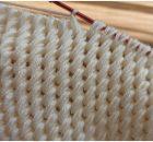 Blanket With Tunisian Stitch