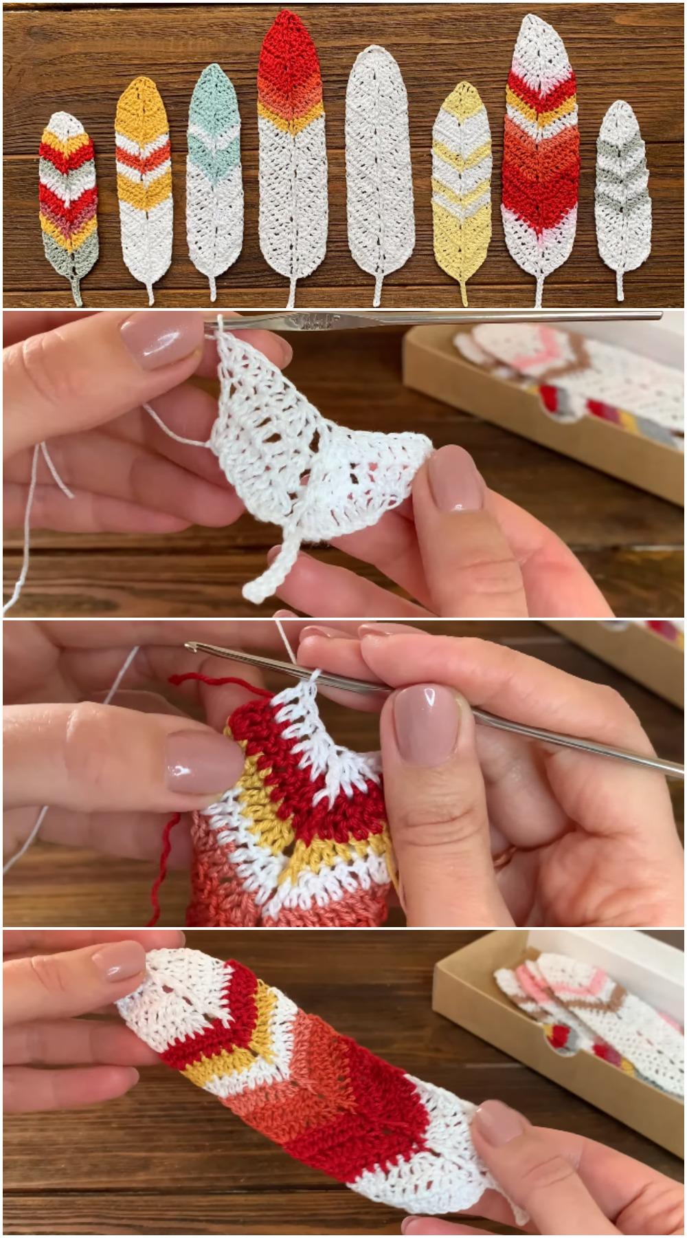Crochet Easy Feathers Pattern Ideas