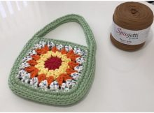 Crochet Easy Granny Square Bag